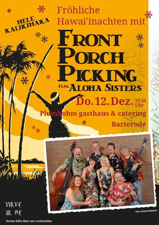 Fröhliche Hawaiinachten mit FRONT PORCH PICKING Feat.Aloha Sisters